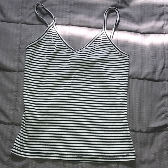 Wet Seal Tops - Wet seal Black and White striped tank!🖤🤍